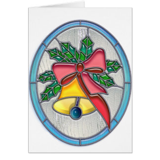 Xmas Bell Stained Glass Card