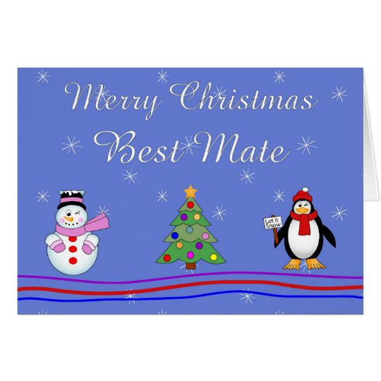 Xmas best mate card
