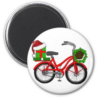xmas bike magnet