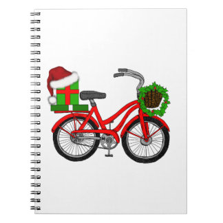xmas bike notebook