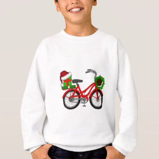 xmas bike sweatshirt