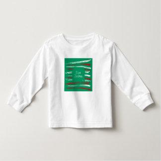 Xmas Brush Stripes green Toddler Long Sleeve Tee Shirts