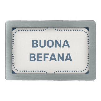 xmas buona Befana Rectangular Belt Buckle