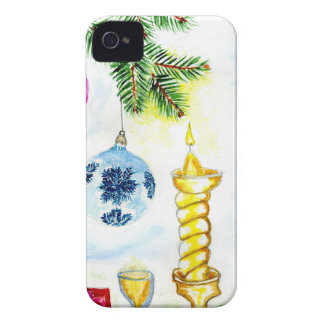 Xmas Candle Art iPhone 4 Cover