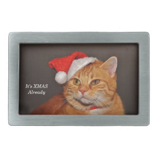 xmas cat belt buckle
