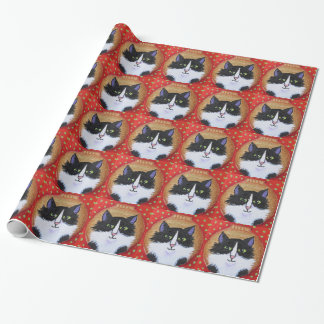 Xmas cat ornament paper