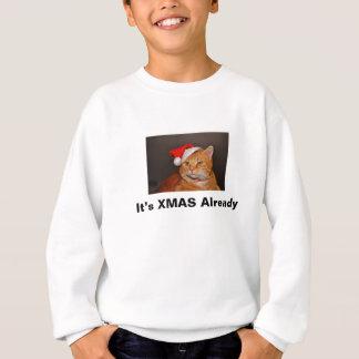 xmas cat sweatshirt