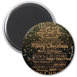 Xmas Christmas 6 Cm Round Magnet