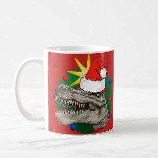 Xmas Christmas Dino Santa Mug