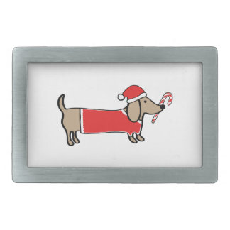 Xmas dachshund belt buckle