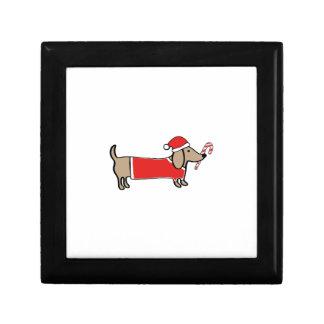 Xmas dachshund gift box