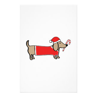 Xmas dachshund stationery