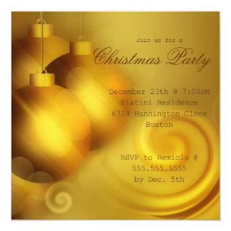 Xmas Decoration Balls Christmas Party Invitation