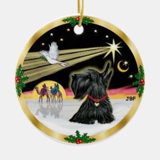 Xmas Dove - Scottish Terrier Ceramic Ornament