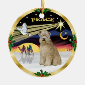 Xmas Dove - Wheaten Terrier Ceramic Ornament