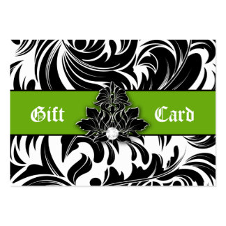 Xmas Elegant Jewelry Logo Gift Card Green Black Large Business Cards (Pack Of 100)