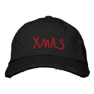 xmas embroidered hats