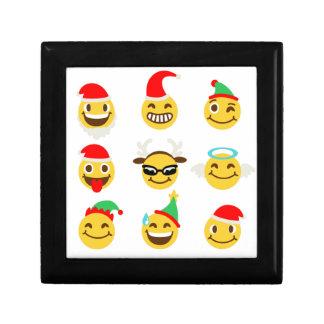 xmas emoji happy faces gift box