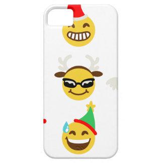 xmas emoji happy faces iPhone 5 cover