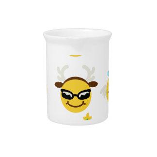 xmas emoji happy faces pitcher