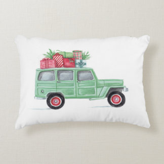 Xmas Family Truckster Decorative Cushion