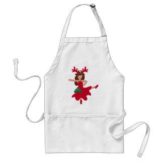 xmas flamenco dancer emoji standard apron