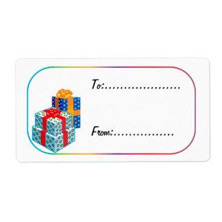 Xmas Gift Tag #3 Shipping Label