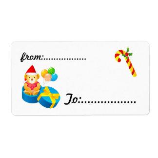 Xmas Gift Tag #4 Shipping Label