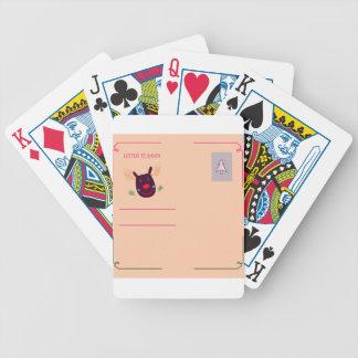 Xmas greeting kids design bicycle playing cards