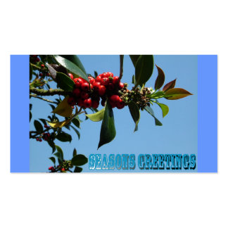 xmas holly pack of standard business cards