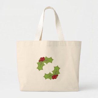 Xmas Holly Canvas Bag
