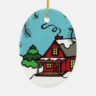Xmas house ornament
