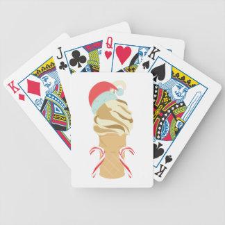 Xmas Ice Cream Bicycle Playing Cards