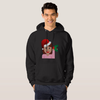 xmas information girl emoji mens hoodie sweatshirt