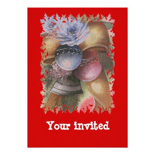xmas custom invites
