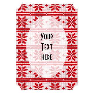 Xmas knitting seamless pattern 1 + your ideas 13 cm x 18 cm invitation card