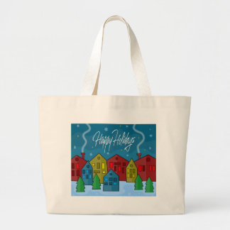 Xmas landscape large tote bag