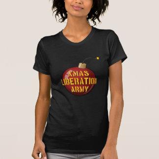 Xmas Liberation Army Bomb ladies dark t-shirt