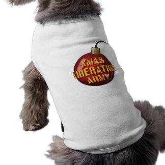 Xmas Liberation Army Bomb pet shirt