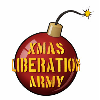 Xmas Liberation Army Bomb photo sculpture