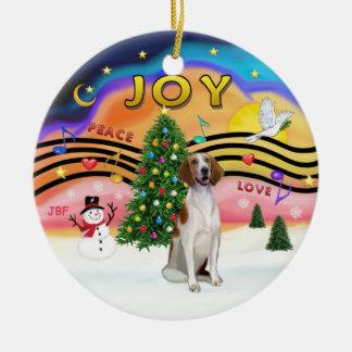 Xmas Magic - American Foxhound Ceramic Ornament