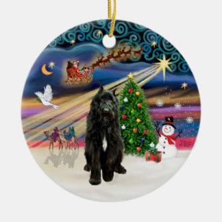 Xmas Magic - Bouvier (black) Ceramic Ornament
