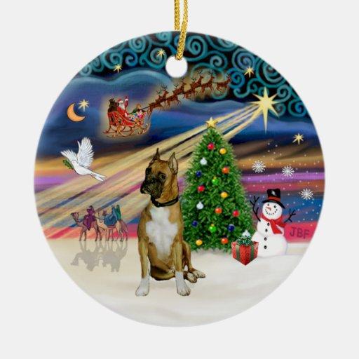 Xmas Magic - Boxer 3 (black mask) Christmas Tree Ornaments