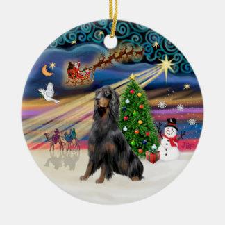 Xmas Magic - Gordon Setter Ornament