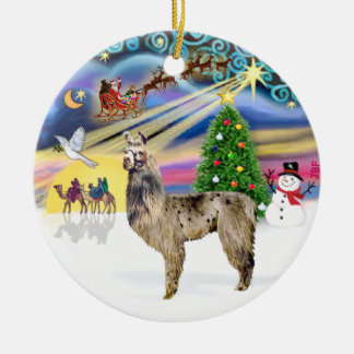 Xmas Magic - Llama 2 Ceramic Ornament