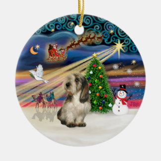 Xmas Magic - Petit Basset 4 Ceramic Ornament