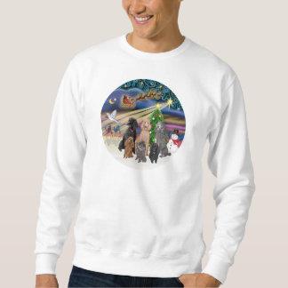 Xmas Magic (R) - 6 Standard Poodles Sweatshirt
