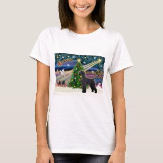Xmas Magic-Schnauzer-Blk-Giant T-Shirt