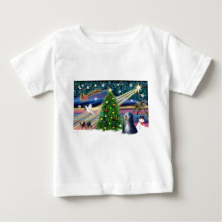 Xmas Magic-Tibetan Terrier (BW) Baby T-Shirt