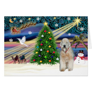 Xmas Magic - Wheaten Terrier - Customized Card